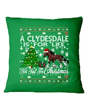 Clydesdale Just For Christmas Square Pillowcase thumbnail