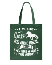 CRAZY ICELANDIC HORSE LADY Tote Bag thumbnail