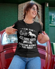 CRAZY ICELANDIC HORSE LADY Ladies T-Shirt apparel-ladies-t-shirt-lifestyle-01