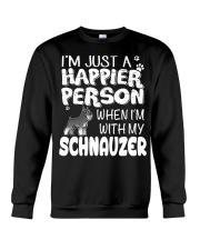 Happier Person  Schnauzer  Crewneck Sweatshirt thumbnail