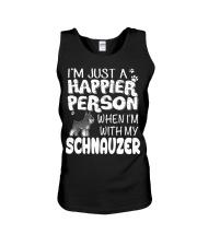 Happier Person  Schnauzer  Unisex Tank thumbnail