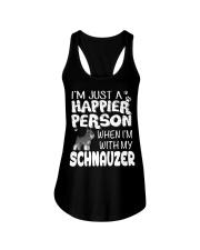 Happier Person  Schnauzer  Ladies Flowy Tank thumbnail