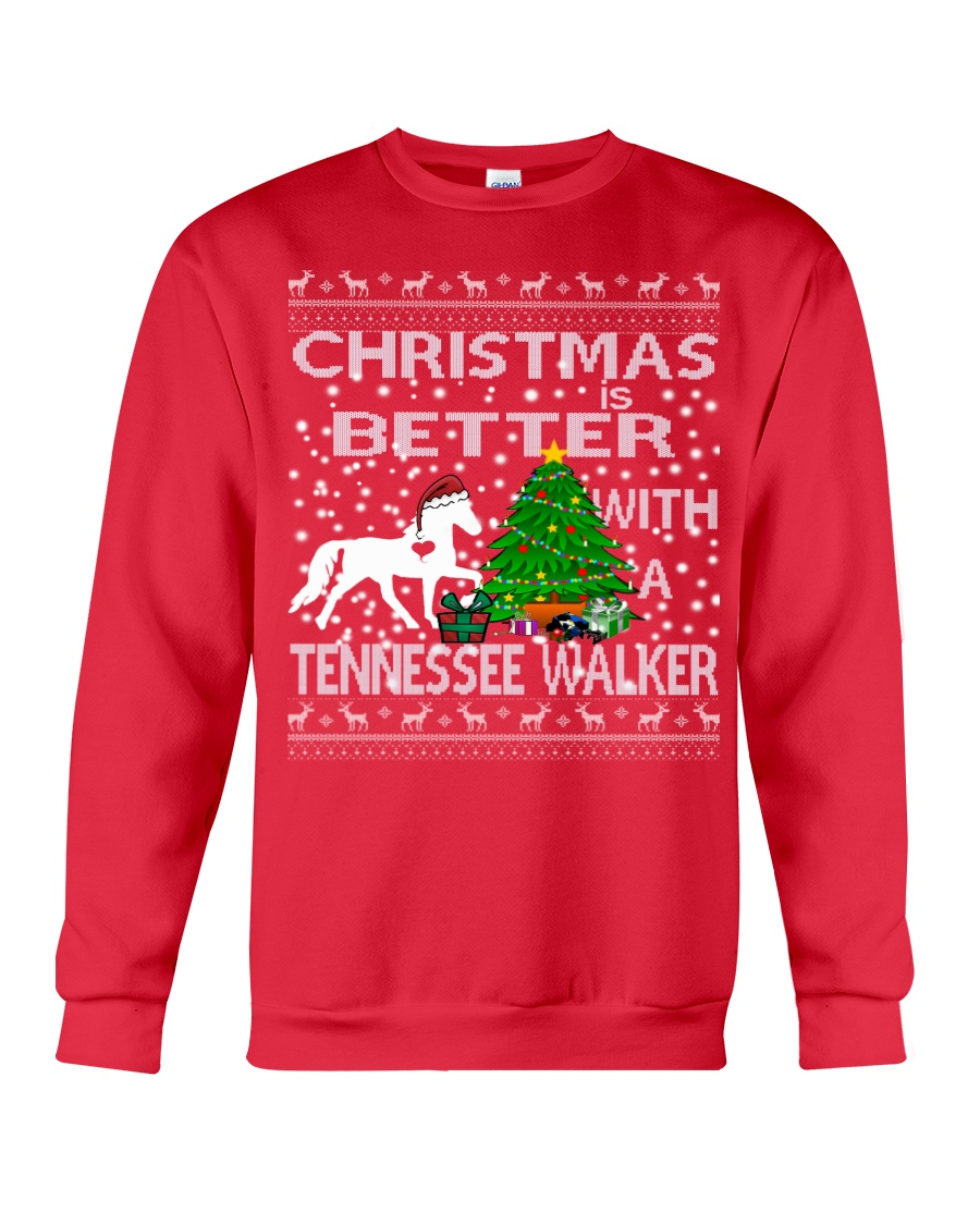 Christmas Is Better With A Tennessee Walker Crewneck Sweatshirt