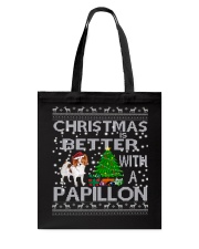 Christmas Is Better With A Papillon Tote Bag thumbnail