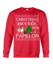 Christmas Is Better With A Papillon Crewneck Sweatshirt front