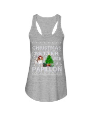 Christmas Is Better With A Papillon Ladies Flowy Tank thumbnail