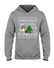 Christmas Is Better With A Papillon Hooded Sweatshirt thumbnail