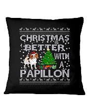 Christmas Is Better With A Papillon Square Pillowcase thumbnail