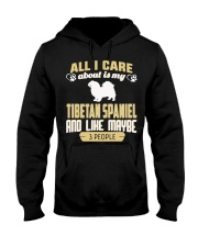 All I Care About Is My Tibetan Spaniel Hooded Sweatshirt thumbnail