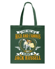 Rich And Famous WIth Jack Russell Tote Bag thumbnail