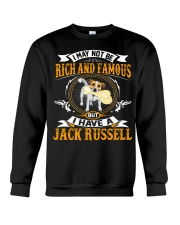 Rich And Famous WIth Jack Russell Crewneck Sweatshirt front