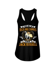 Rich And Famous WIth Jack Russell Ladies Flowy Tank thumbnail