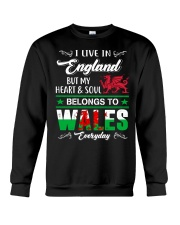 LIVE ENGLAND BUT MY HEART IN WALES  Crewneck Sweatshirt tile