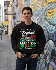 LIVE ENGLAND BUT MY HEART IN WALES  Crewneck Sweatshirt lifestyle-unisex-sweatshirt-front-2