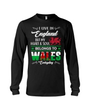 LIVE ENGLAND BUT MY HEART IN WALES  Long Sleeve Tee tile