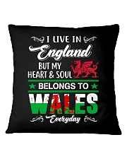 LIVE ENGLAND BUT MY HEART IN WALES  Square Pillowcase thumbnail