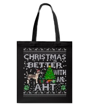 Christmas With American Hairless Terrier AHT Tote Bag thumbnail
