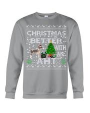 Christmas With American Hairless Terrier AHT Crewneck Sweatshirt tile