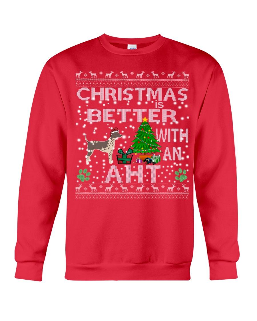 Christmas With American Hairless Terrier AHT Crewneck Sweatshirt