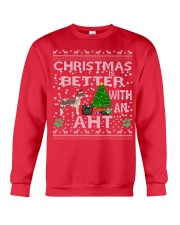Christmas With American Hairless Terrier AHT Crewneck Sweatshirt front