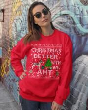 Christmas With American Hairless Terrier AHT Crewneck Sweatshirt lifestyle-unisex-sweatshirt-front-3