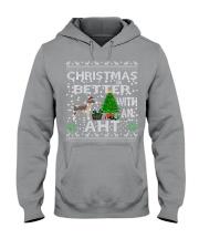 Christmas With American Hairless Terrier AHT Hooded Sweatshirt thumbnail