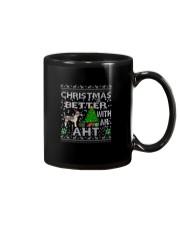 Christmas With American Hairless Terrier AHT Mug thumbnail
