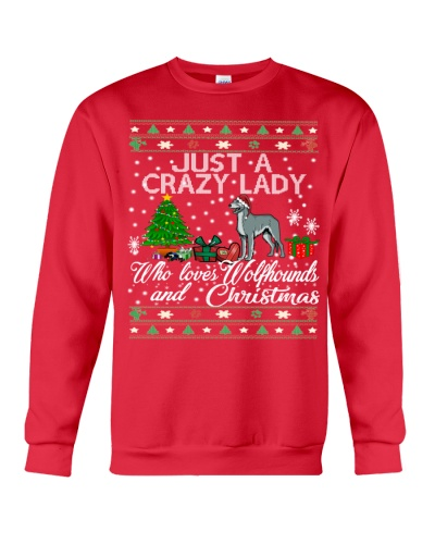 Crazy Lady Loves Irish wolfhounds And Christmas