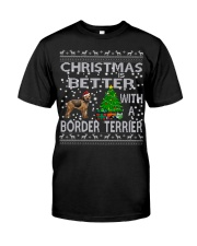 Christmas Is Better With A Border Terrier Classic T-Shirt thumbnail