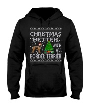 Christmas Is Better With A Border Terrier Hooded Sweatshirt thumbnail