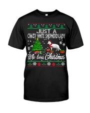 Crazy White Shepherd Lady Who Loves Christmas Classic T-Shirt thumbnail