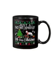 Crazy White Shepherd Lady Who Loves Christmas Mug thumbnail