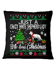 Crazy White Shepherd Lady Who Loves Christmas Square Pillowcase thumbnail