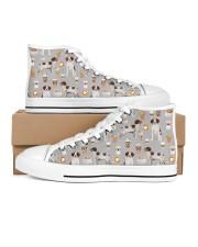 Brittany Spaniel Men's High Top White Shoes thumbnail