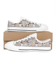 Brittany Spaniel Men's Low Top White Shoes thumbnail