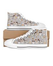Brittany Spaniel Women's High Top White Shoes thumbnail