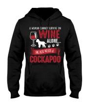 Woman Needs Wine And Cockapoo Hooded Sweatshirt thumbnail