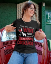 Woman Needs Wine And Cockapoo Ladies T-Shirt apparel-ladies-t-shirt-lifestyle-01