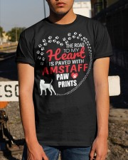 My Heart Paved With Amstaff Paw Prints Classic T-Shirt apparel-classic-tshirt-lifestyle-29