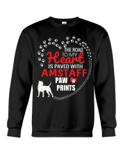 My Heart Paved With Amstaff Paw Prints Crewneck Sweatshirt thumbnail