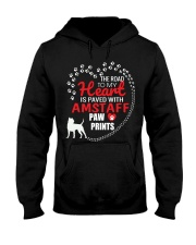 My Heart Paved With Amstaff Paw Prints Hooded Sweatshirt thumbnail