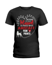 My Heart Paved With Amstaff Paw Prints Ladies T-Shirt thumbnail