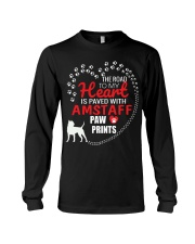 My Heart Paved With Amstaff Paw Prints Long Sleeve Tee thumbnail