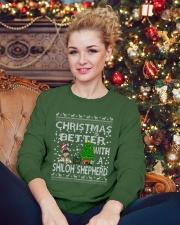 Christmas Is Better With My Shiloh Shepherd Crewneck Sweatshirt lifestyle-holiday-sweater-front-2