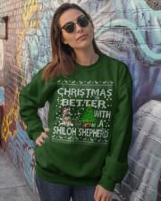 Christmas Is Better With My Shiloh Shepherd Crewneck Sweatshirt lifestyle-unisex-sweatshirt-front-3