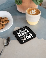 American Hairless Terrier Square Coaster aos-homeandliving-coasters-square-lifestyle-02