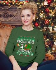 Nollaig Shona Crewneck Sweatshirt lifestyle-holiday-sweater-front-2