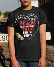 My Heart Paved With Chug Paw Prints Classic T-Shirt apparel-classic-tshirt-lifestyle-29