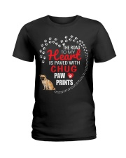My Heart Paved With Chug Paw Prints Ladies T-Shirt thumbnail