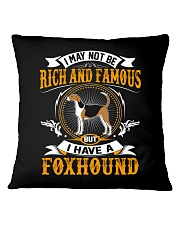 Rich And Famous WIth Foxhound Square Pillowcase thumbnail